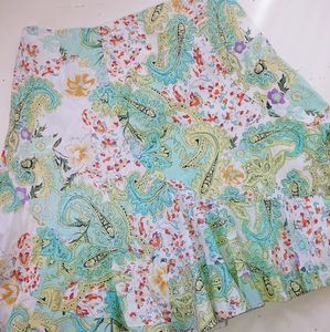 David Brooks Cotton Paisley Floral Skirt 12